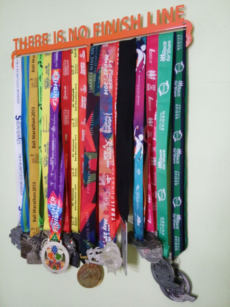 MEDAL HANGER - THERE IS NO FINISH LINE